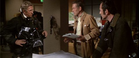 Steve McQueen and Paul Newman in The Towering Inferno.